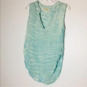 Coth & Stone Sleeveless Tye Dyed Top Mint Green